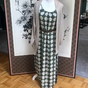 Forest green and beige maxi dress!